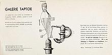 SNOEK, Paul - Uitnodiging voor tentoonstelling werk Paul Snoek in galerie Taptoe te Brussel op zaterdag 6 april 1957