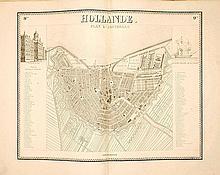 [NEDERLAND] - Nouvelle carte de la Hollande, d'après Krayenhoff et les meilleures cartes connues