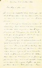 GEZELLE, Guido Brief van Gezelle aan kanunnik Ernest Rembry (1835-1907)