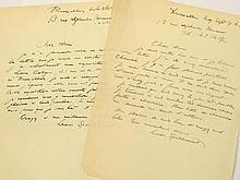 SPILLIAERT, Léon Lettre autographe signée