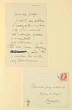 SMITS, Jacob Collection de 10 lettres autographes signées avec enveloppes adressées à Georges Eekhoud