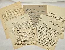 PERMEKE, Constant Verzameling van zeven gesigneerde brieven aan Jef De Vlieger