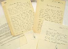 PEIRE, Luc Handgeschreven gesigneerde brief aan Mr. De Vlieger