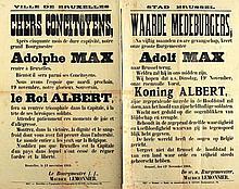 [AFFICHES W.O. I] Terugkeer Adolf Max - Retour Adolf Max (13.11.1918)