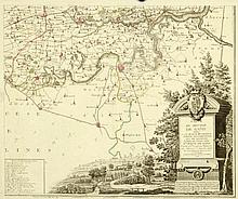 FRICX, E. H. Carte très particuliere du Paijs de Waes, ou sont marqués les lignes depuis Anvers jusques à Gand