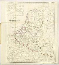 [BELGIQUE] Carte de Belgique indiquant toutes les voies de communication, dressée au dépôt de la Guerre à l'Echelle de 1/160.000