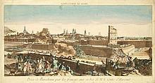[VUE d'OPTIQUE] BARCELONA Prise de Barcelonne par les francois aux ordres de Mr le Comte d'Harcout