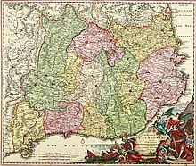 HOMANN, J.B. Principatus Cataloniae