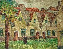 CAUCHIE, Paul (1875-1952) Cours d'hospice à Bruges