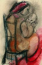 CLAERHOUT, Frans Martin (1919-2006) Mother and child