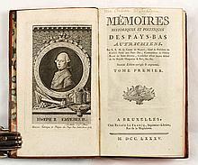 NÉNY, Patrice-François, comte de Mémoires historiques et politiques des Pays-Bas autrichiens