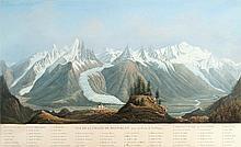 [SUISSE] Vue de la Chaine du Mont-Blanc prise au dessus de la Flégère - Vue de la mer de glace prise du Montanvert