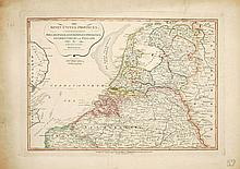 [NOORDELIJKE NEDERLANDEN] New and Correct Map of the Seven United Provinces. Drawn from the most approved Maps and Charts: the whole being regulated by Astronomical Observations. By Eman: Bowen