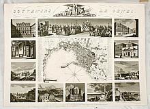 [ITALY] Plan de la ville de Gènes en 1829