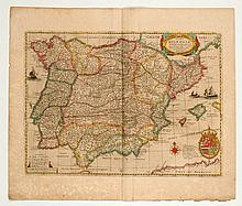 [SPAIN and PORTUGAL] - HONDIUS, H. Typus Hispaniae ab Hesselo Gerardo