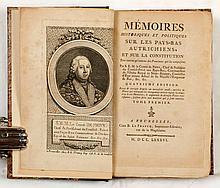 NÉNY, Patrice-François, comte de Mémoires historiques et politiques sur les Pays-Bas autrichiens, et sur la constitution... Quatrième édition