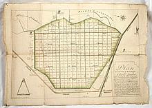 [OOSTENDE] Plan division & bornage des Schorre Landen connues sous le nom du Schorre de Snaeskerke .. pour la facilité d'une vente prochaine, dont le produit est affecté aux ouvrages publics pour l'amelioration du Port d'Ostende