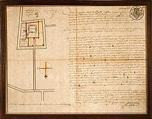 [OEDELEM] Grondplan van kasteel Ten Torre, eigendom van Jacque de la Vilette in 1744