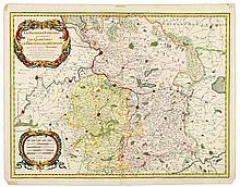 SANSON Le Brabant Espagnol qui comprend les Quartiers de Brusselles, de Louvain et partie de celuy d'Anvers