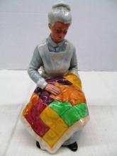 Royal Doulton HN 2814 Eventide Lady w/Quilt ~ 8