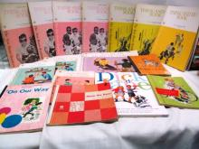 Lot of 15 Retro Dick, Jane & Sally Workbooks ~ 1940's - 1960's ~ Mix of Teacher & Student Editions