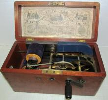 Antique Medical Quackery Machine ~ Improved Patent Magneto Electric Machine For Nervous Diseases