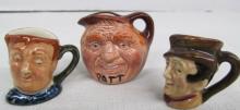 Lot of 3 Miniature Royal Doulton Toby Mugs