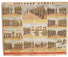THREE SOVIET-ERA BARRACKS POSTERS