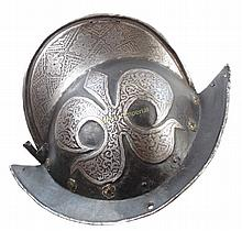 A MORION HELMET OF THE MUNICH TOWN GUARD