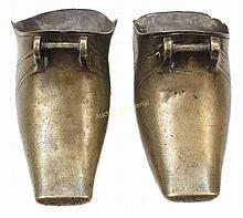 A PAIR OF SOUTH AMERICAN BOOT STIRRUPS