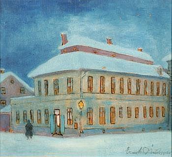 Ernst Nilsson 1892-1937. Uppsalamotiv/husexterior