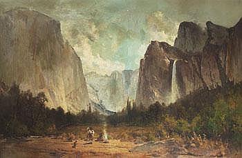 Thomas Hill 1829-1908. Dalgång i Yosemite med