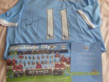 Signed Adam Johnson Manchester City Shirt Direct from the Club