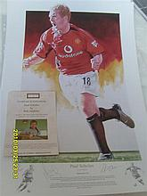 Limited Edition Football Print signed by Paul Scholes