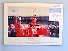 1966 Signed England World Cup Winning Print signed by Nobby Styles