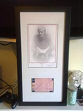 Signed Football Autographs of  Bobby Moore and Geoff Hurst