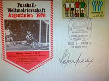 RARE - Signed First Day Cover of  Bobby Moore.