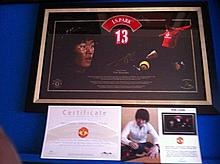 ji sung park Limited Edition Picture direct from the Club