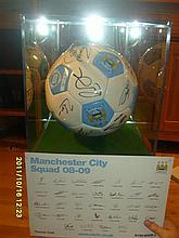 2008-2009 Manchester City Signed Football