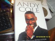 Manchester Uniteds Andy Cole Signed Book
