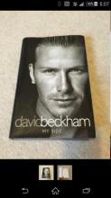Mint Condition Signed David Beckham Book