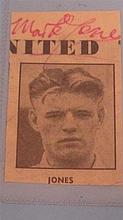 Mark Jones Man United Signed  Small Black and White Picture 1957