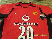 Manchester United Hand Signed Shirt Ole Gunnar Solskjaer