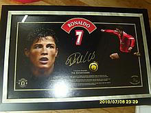 Limited Edition glass framed picture of Ronaldo