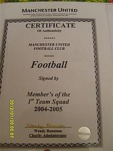 Manchester United signed football 2004-2005
