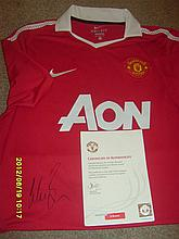 Manchester United Football Shirt from the Club Signed by Wes Brown.