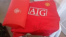Wes Brown signed shirt in red folder