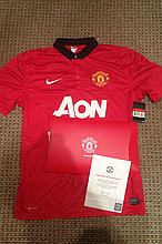 Signed Manchester United Shirt signed by Fabio