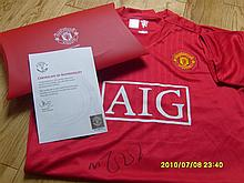 Manchester United Football Shirt from the Club Signed by Michael Carrick.