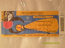 European Cup final ticket 1999